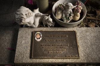 The memorial for Caitlin Cruz.