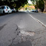 'Potholes you could lose a dog down': The worst roads in Sydney revealed