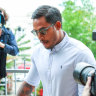 Former NRL player Ben Barba arrives at Townsville court in Townsville, Friday, March 22, 2019.