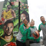 Australian basketball greats honoured in Marvel Stadium mural