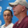 Barty's frustration as coach stuck in Melbourne