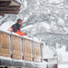 Anton Grimus grew up on Mount Buller. This year, waist-high snow is more taunt than gift