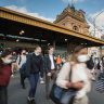 Workers have returned to the Melbourne CBD this week, with busy scenes outside Flinders Street Station.