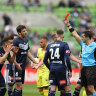 Victory draw with Phoenix in red card clash