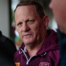 Queensland State of Origin coach Kevin Walters speaks to the media in Perth on Monday.