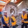Metro Tunnel boring machines months behind schedule