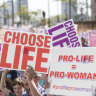 Brisbane rally against abortion decriminalisation laws attracts thousands