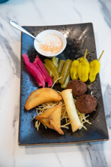 Hot and cold finger food at Zahli.