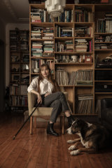 Martha Marlow at home with her beloved border collie Hazel (who is credited on the album).