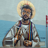 George Michael Mural - Patron Saint of the Gays by Sydney artist Scott Marsh