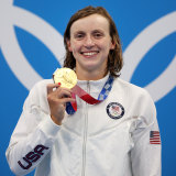 """""""I'm lucky to be here"""": Katie Ledecky."""