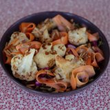 The roasted cauliflower salad with sweet potato curls from Petty Cash Cafe.