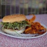 "Cult status ""sleazy"" vegan cheeseburger at Petty Cash Cafe."