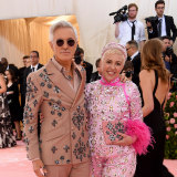 Staying put: Baz Luhrmann and Catherine Martin at the 2019 Met Gala in New York City.