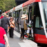 The CBD is now serviced by a light rail along a pedestrianised route.