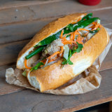 The meatball banh mi from the iconic Marrickville Pork Roll.