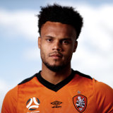 Striker Aaron Amadi-Holloway, who has proven a handful for A-League defences in his first two games for Brisbane Roar.