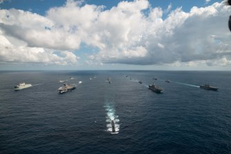 US, Australian, Canadian and Japanese defence forces conduct exercises in 2019.