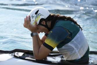 Jessica Fox can't hide her disappointment despite claiming bronze in the K1 Slalom final.