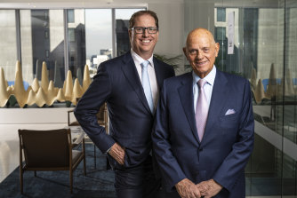 Premier Investments chairman Solomon Lew and Premier Retail chief executive Richard Murray.