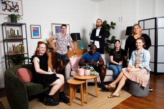 The students from Lost for Words. About 43 per cent of adults lack basic literacy skills in Australia.