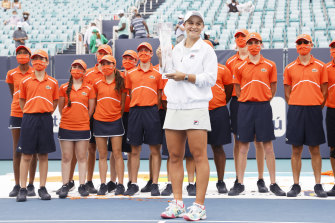 Barty made her own breakthrough by winning the 2019 Miami championship. Last year's tournament was cancelled due to the coronavirus pandemic.