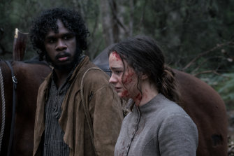 Baykali Ganambarr and Aisling Franciosi in Jennifer Kent's The Nightingale.