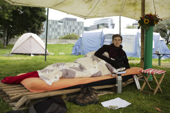 Climate activist Henning Jeschke has been on a hunger strike in a Berlin Park since August 30, demanding the candidates for chancellor of germany meet him ahead of the election.