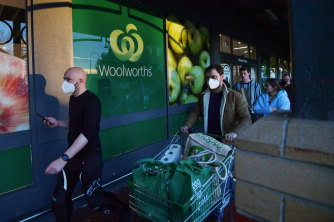 A Woolworths spokesman said nearby supermarkets were helping to fill online orders.