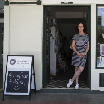 Moree toy shop owner Dibs Cush has seen her online sales grow thanks to the 'Buy from the Bush' campaign.