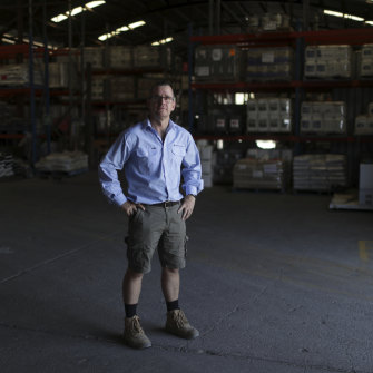 McGregor Gourlay branch manager Mick Jensen in the company's warehouse in Moree.