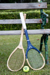 Highly strung: Real or royal tennis racquets are asymmetrical and the balls have much less bounce than those for lawn tennis.