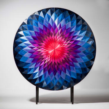 """Bloom"" cabinet by Adam Goodrum and Arthur Seigneur."