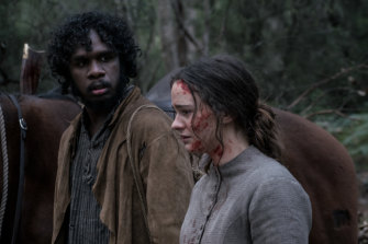 Baykali Ganambarr and Aisling Franciosi in Jennifer Kent's The Nightingale.