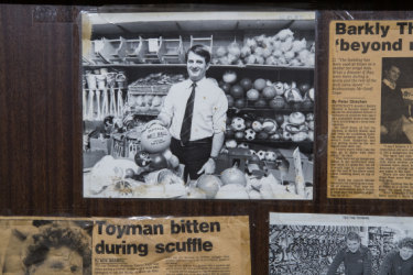 Geoff Hope in the early 1980s, when the store was toy-focused.
