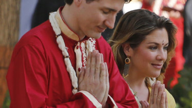 Justin Trudeau and his wife, Sophie, in India earlier this week.