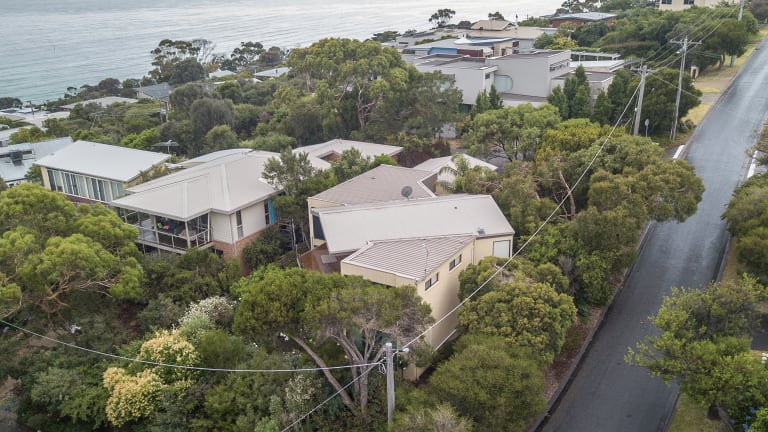 The $1.12 million Dromana beach house now owned by Archbishop Denis Hart.