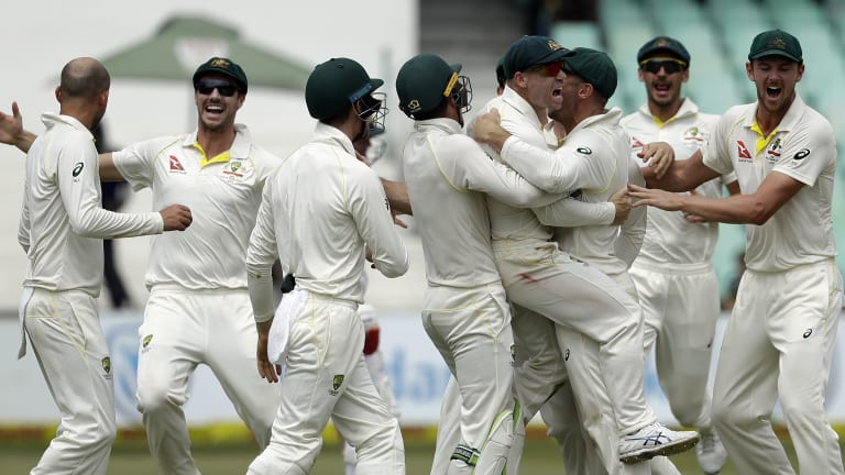 Flashpoint: Australia raucously celebrate AB de Villiers' run out for a duck in Durban. Their joy makes more sense in light of what the South African has subsequently delivered.