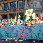 An Extinction Rebellion protest calling for stronger action to reduce climate change.
