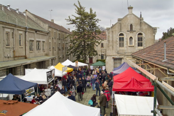 The Slow Food Market at Abbotsford Convent.