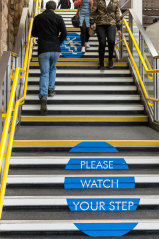 The decision means the council was not required to install a reflective strip to warn of the stairs.