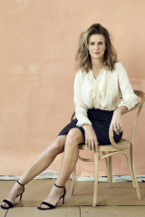 Rachel wears Chloé silk blouse, her own skirt and jewellery and Charles & Keith shoes.