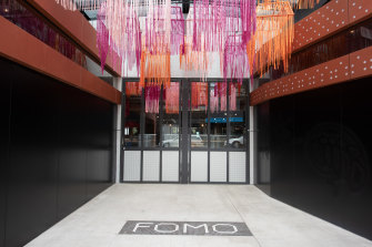 The entry to FOMO on the Queen Street side of the development.