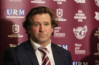 Manly coach Des Hasler has triggered a bonus by finishing in the top four. Now he can get a haircut.