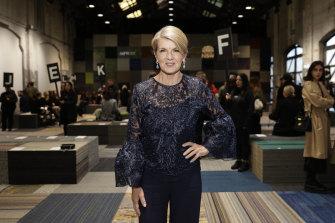Julie Bishop attends Fashion Week to give a tribute to Carla Zampatti.