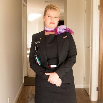 Virgin flight attendant Natasha Pawlak.
