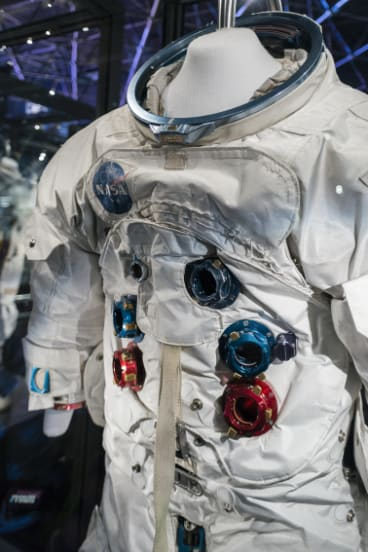 Some of the suits on display have travelled into space.