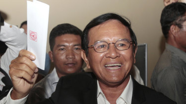 Cambodia National Rescue Party President Kem Sokha pictured before he was jailed last year.