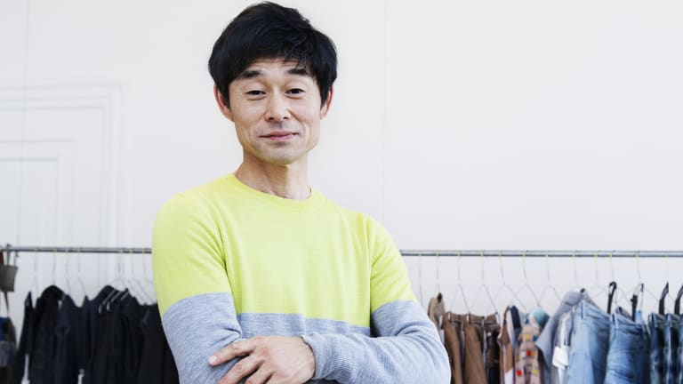 """Akira Minagawa: one of his goals is to create work that lasts 100 years. """"I have no desire for women to come back and look for a new dress every year,"""" he says."""