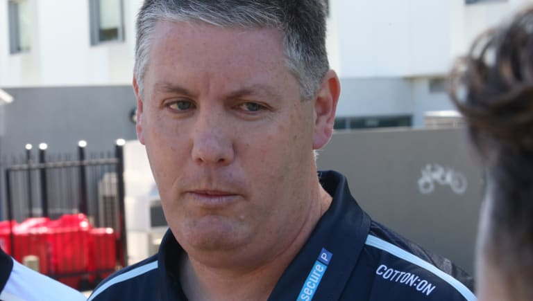 Damien Keeping wont' coach the Blues this weekend.
